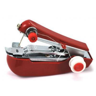 Ruční mini šicí stroj - červená