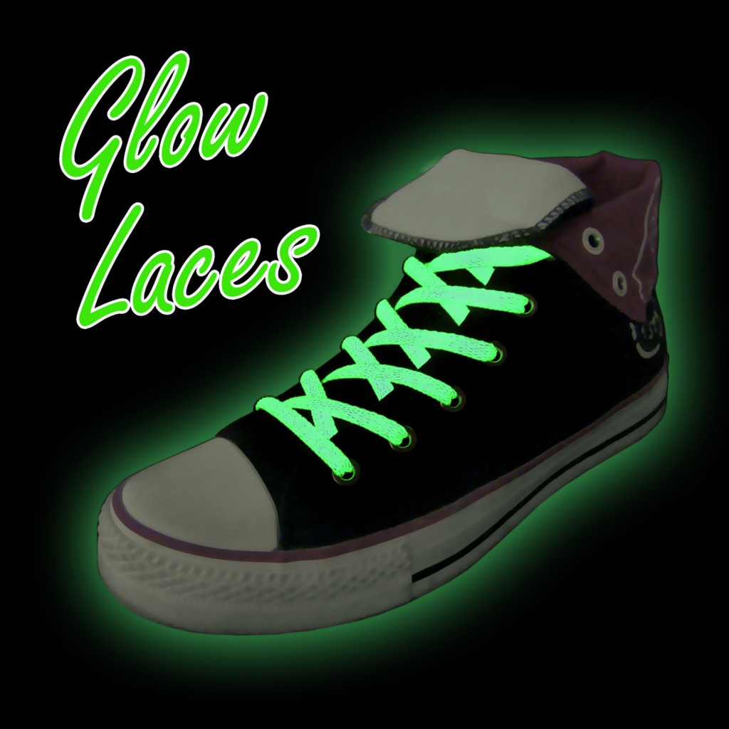 Svítící tkaničky - zelené