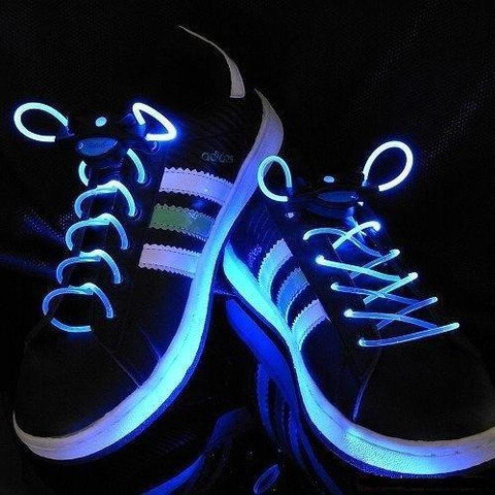 Svítící LED tkaničky - modré