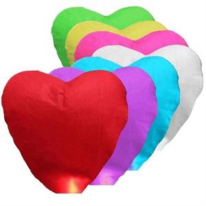 Lampiony štěstí - Sada COLOR MIX Srdce 10ks