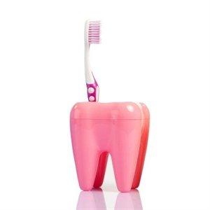 Zubní držák kartáčků - růžový
