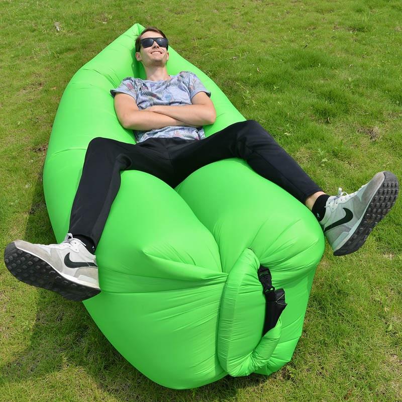 Samonafukovací pytel Lazy Bag - zelený