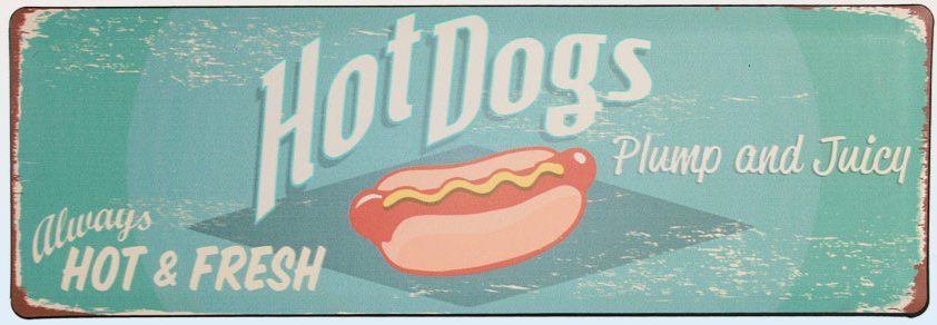 Americká cedulka- Hot dogs