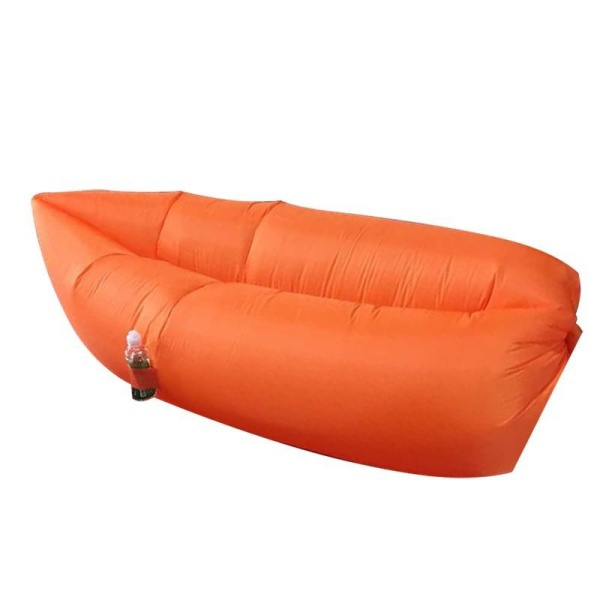 Samonafukovací pytel Lazy Bag - oranžový
