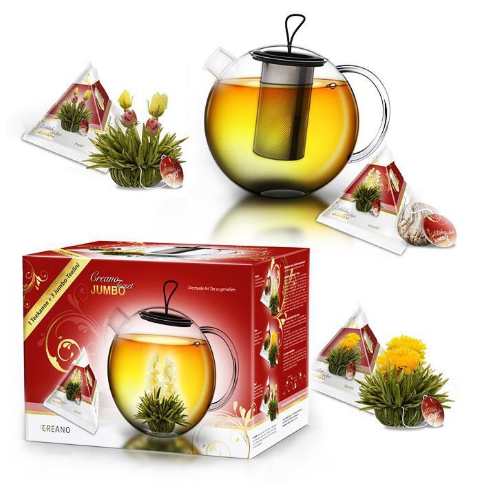 Kompletní dárková sada Creano Jumbo - bílý čaj