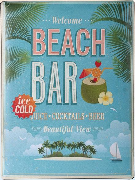 Americká cedule - Beach Bar