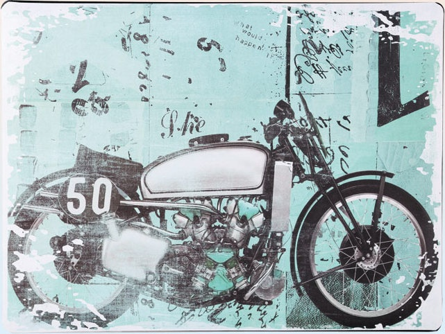 Americká cedule - Retro motorka