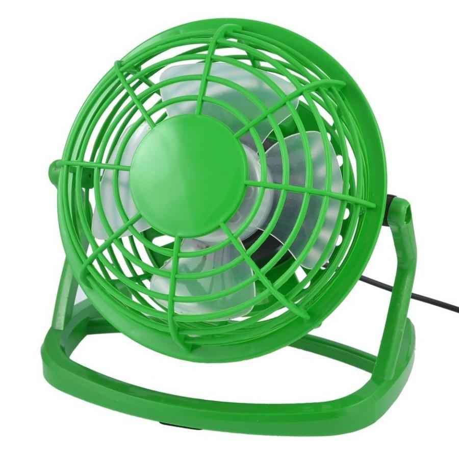Stolní USB větráček - zelený