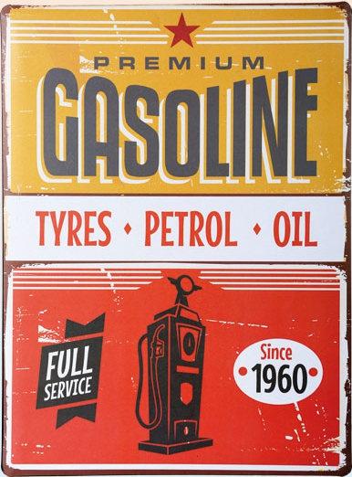 Americká cedule - Premium gasoline