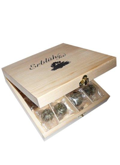 Exkluzivní dřevěná skřínka - 12 ks, bílý čaj