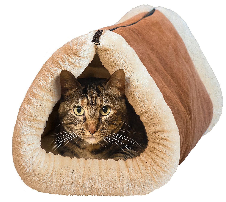 Plyšový pelech pro kočky – Kitty Shack