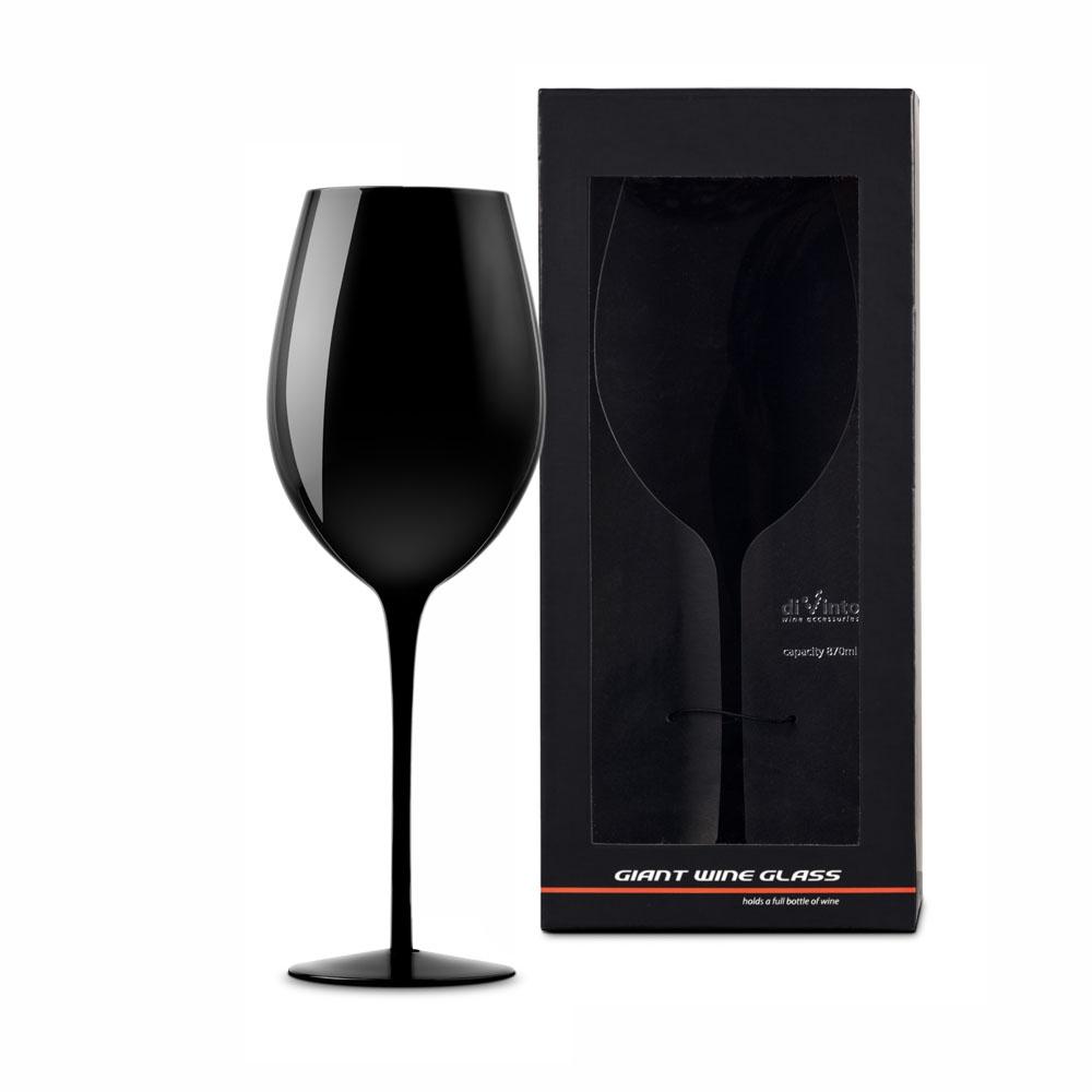 Luxusní obří sklenice na víno - černá