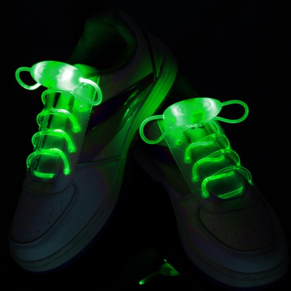 Svítící LED tkaničky - zelené
