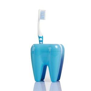 Zubní držák kartáčků - modrý