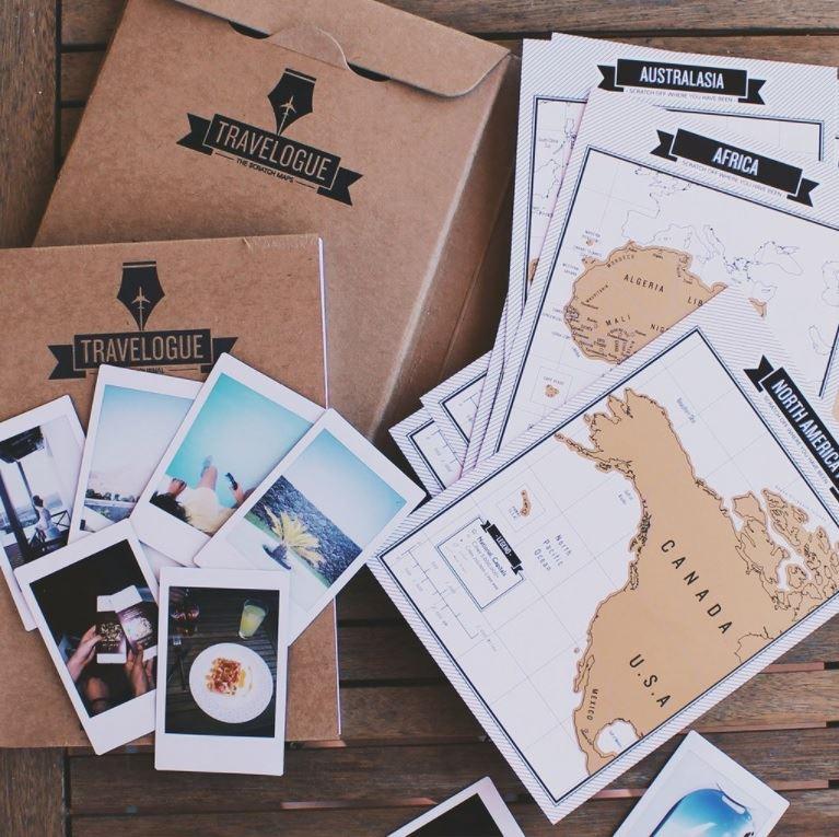 Cestovní deník se stíracími mapami
