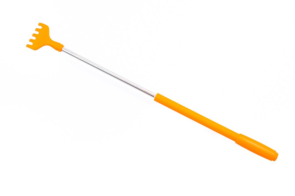 Teleskopické drbátko - oranžové
