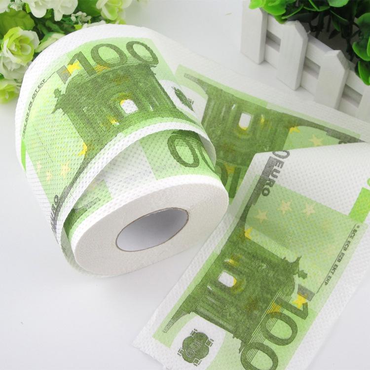 Toaletní papír - eura - 100 €