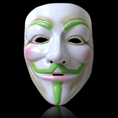 Maska Anonymous - zelená