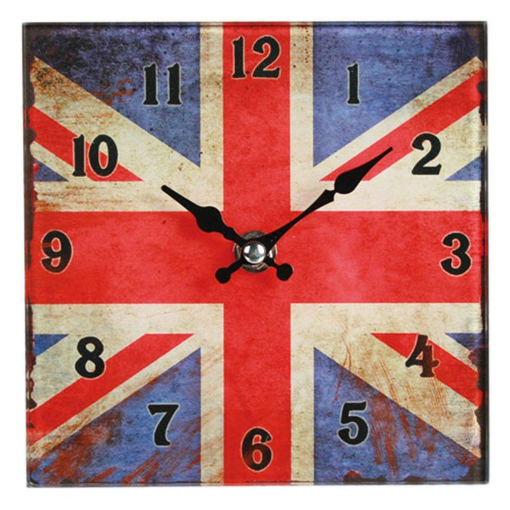 Skleněné hodiny - Union Jack