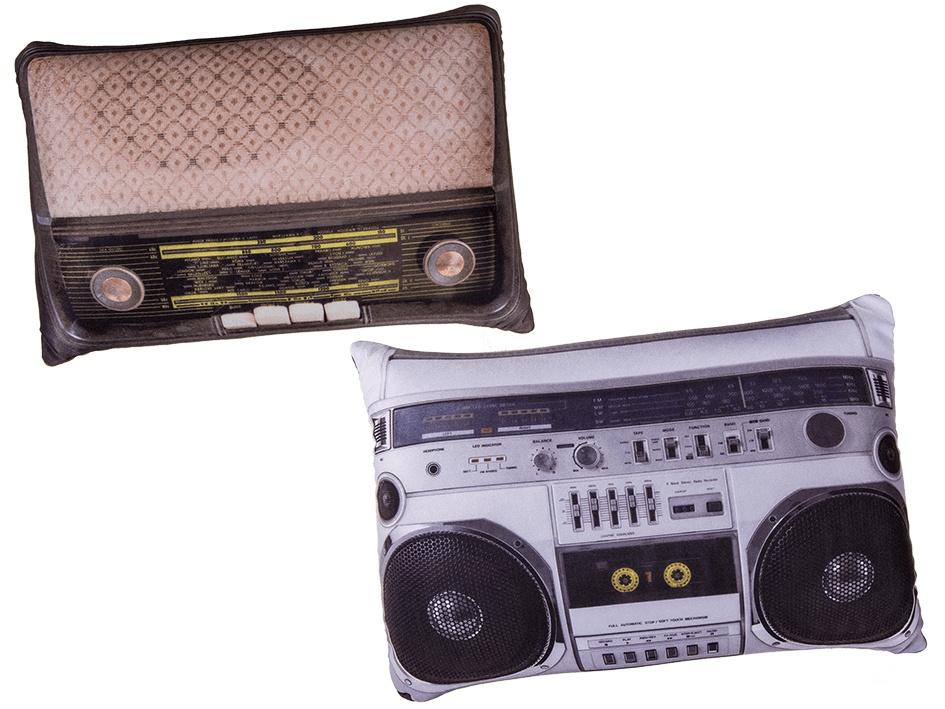 Retro polštář - historické rádio