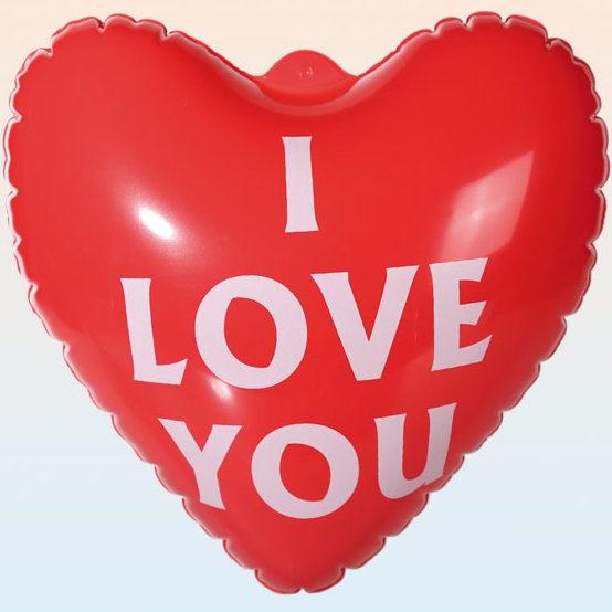 Nafukovací srdíčko - I love you