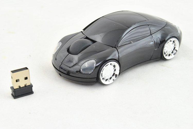 PC myš auto bezdrátová - zeleno-černá