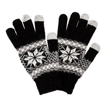Stylové rukavice pro smartphony - černé