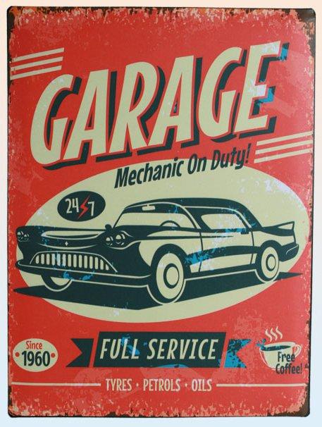 Americká cedule - Garage