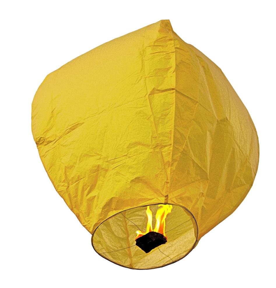 Lampion štěstí - žlutý