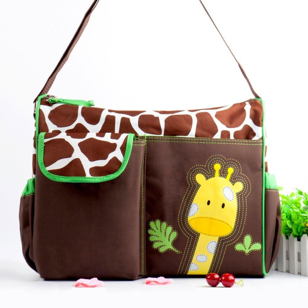 Taška pro maminky - zelená žirafa