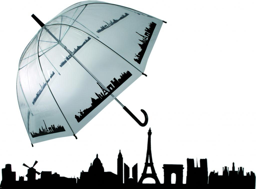 Průhledný deštník - Paříž