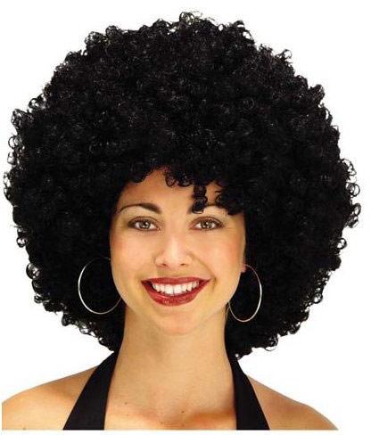 Afro paruka - černá