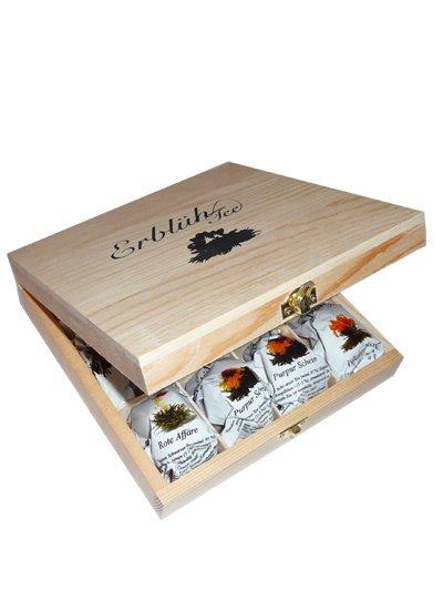 Exkluzivní dřevěná skřínka - 12 ks, černý čaj