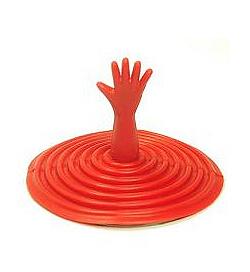 Zátka do umyvadla - HELP červená