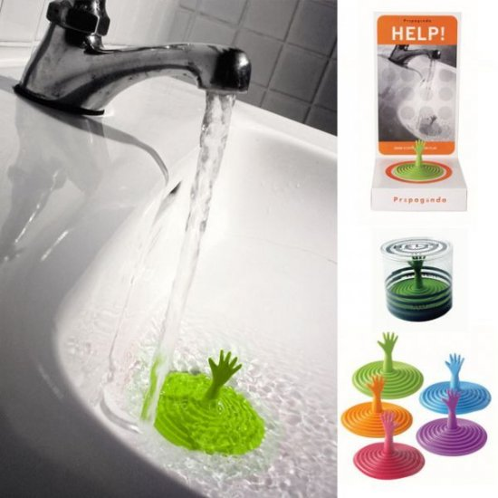 Zátka do umyvadla - HELP zelená